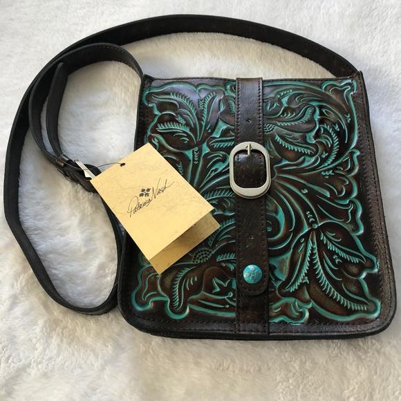 NWT Patricia Nash Tooled Turquoise Venezia Pouch a7992ca3a64e7